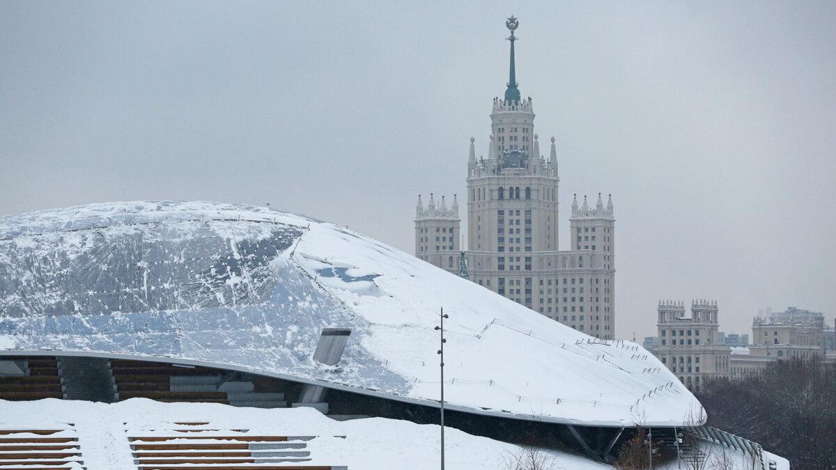 Москва зима погода мороз утро зарядье пасмурно