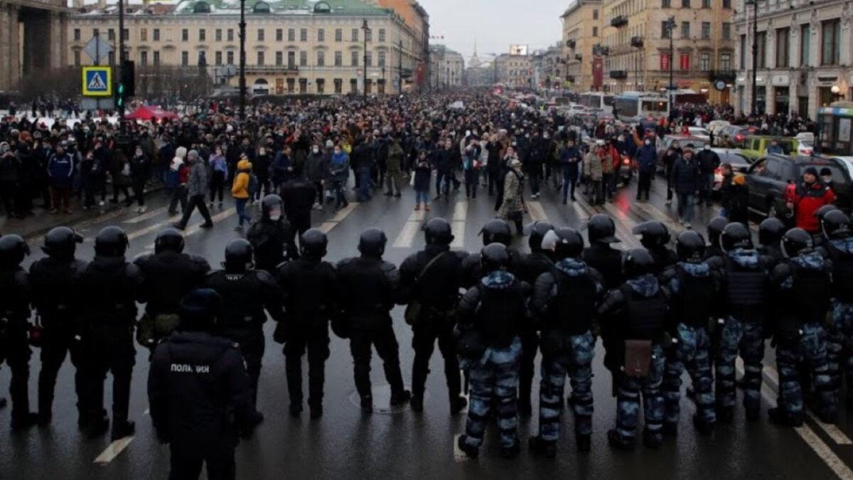 Санкт-Петербург протесты Навальный задержания