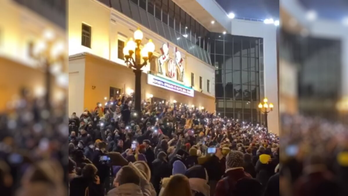 Москва протесты Навальный Цветной бульвар