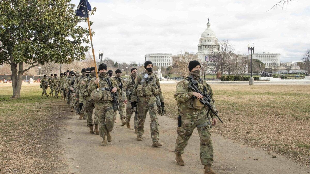Национальная гвардия нацгвардия США Капитолий инаугурация