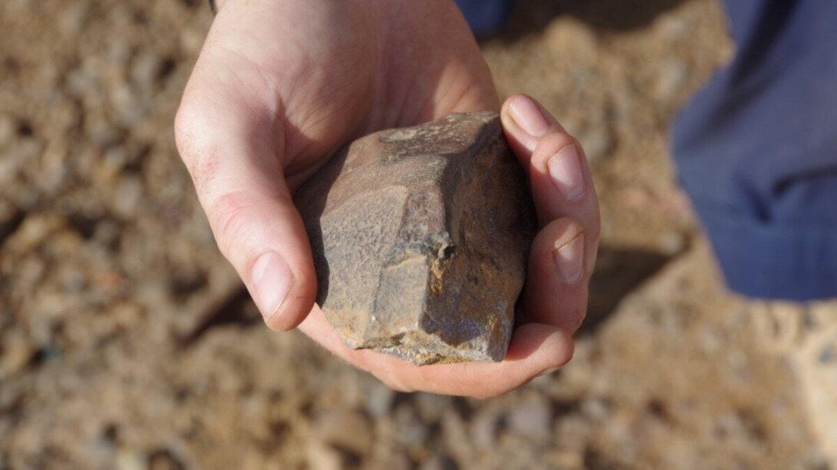 обработанный камень из Ламинии Сенегал археология