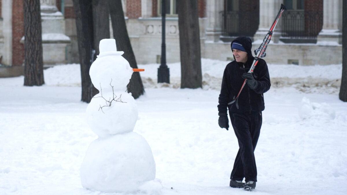 Погода зима снеговик Москва Царицыно