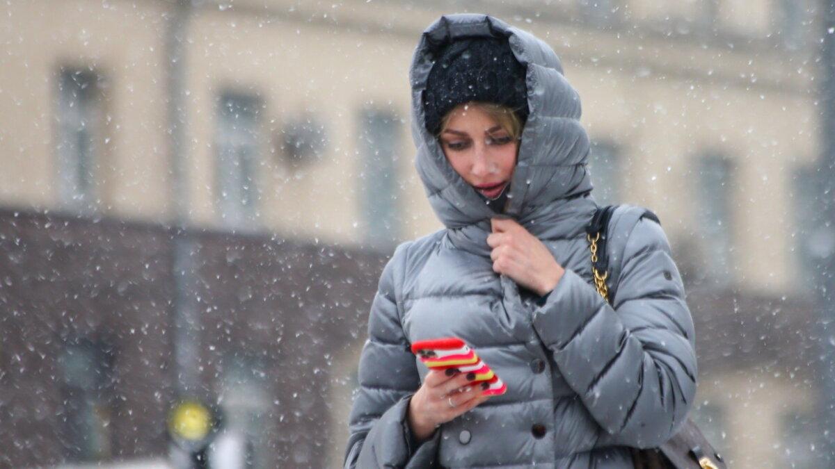 Погода зима снегопад девушка