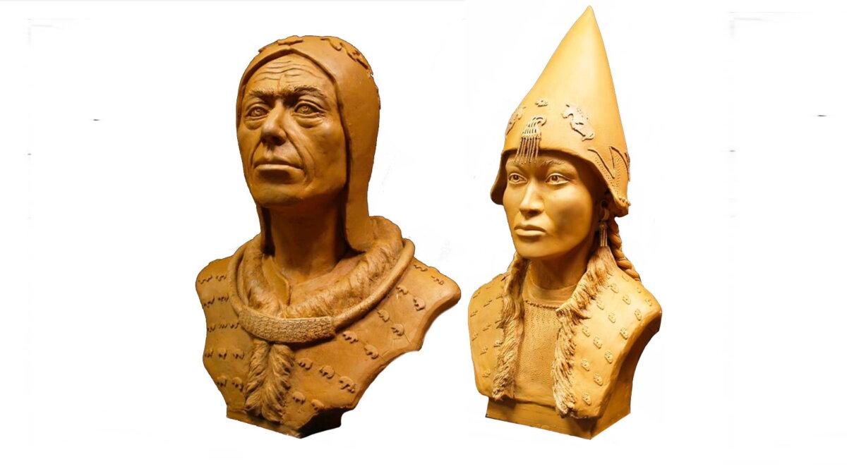 Внешний облик скифских царя и царицы