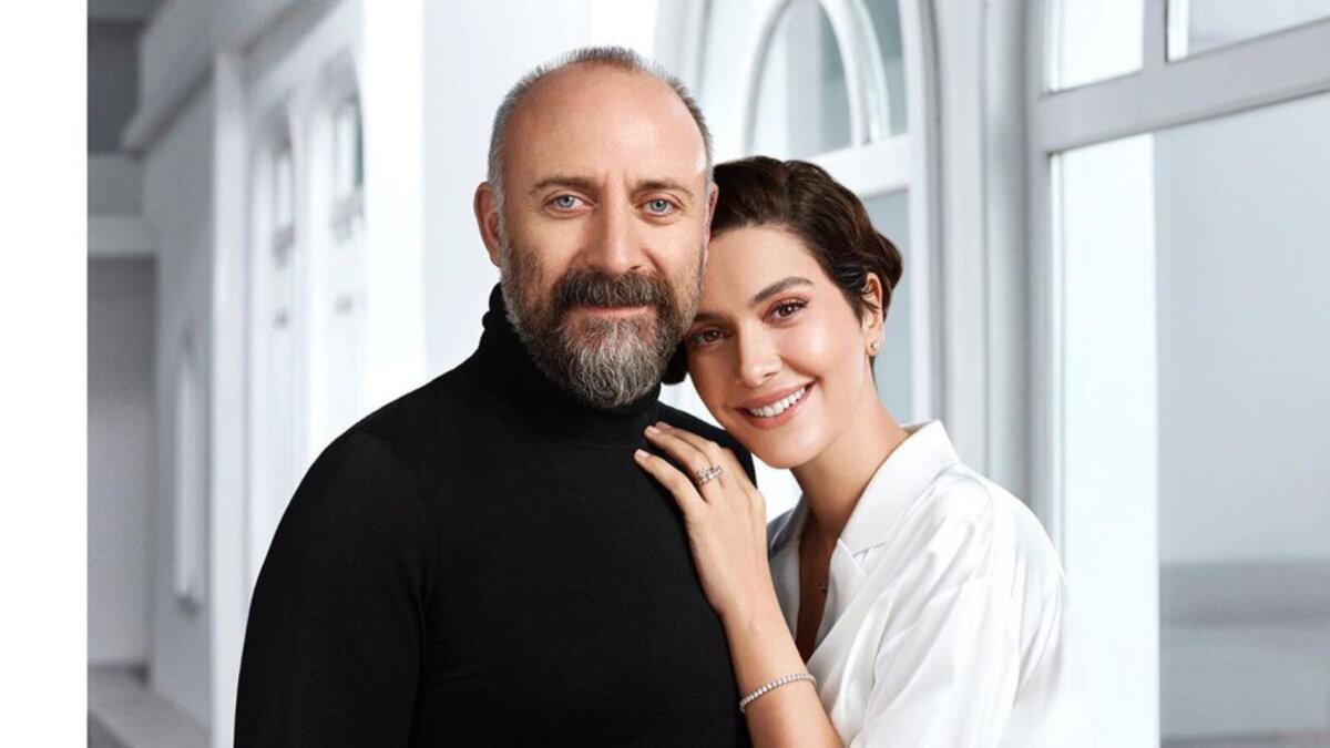 Актёр Халит Эргенч с женой Бергюзар Корель