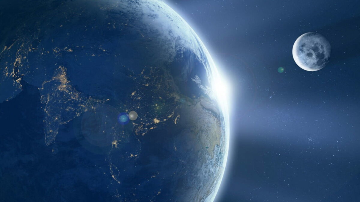 Планета Земля Луна один