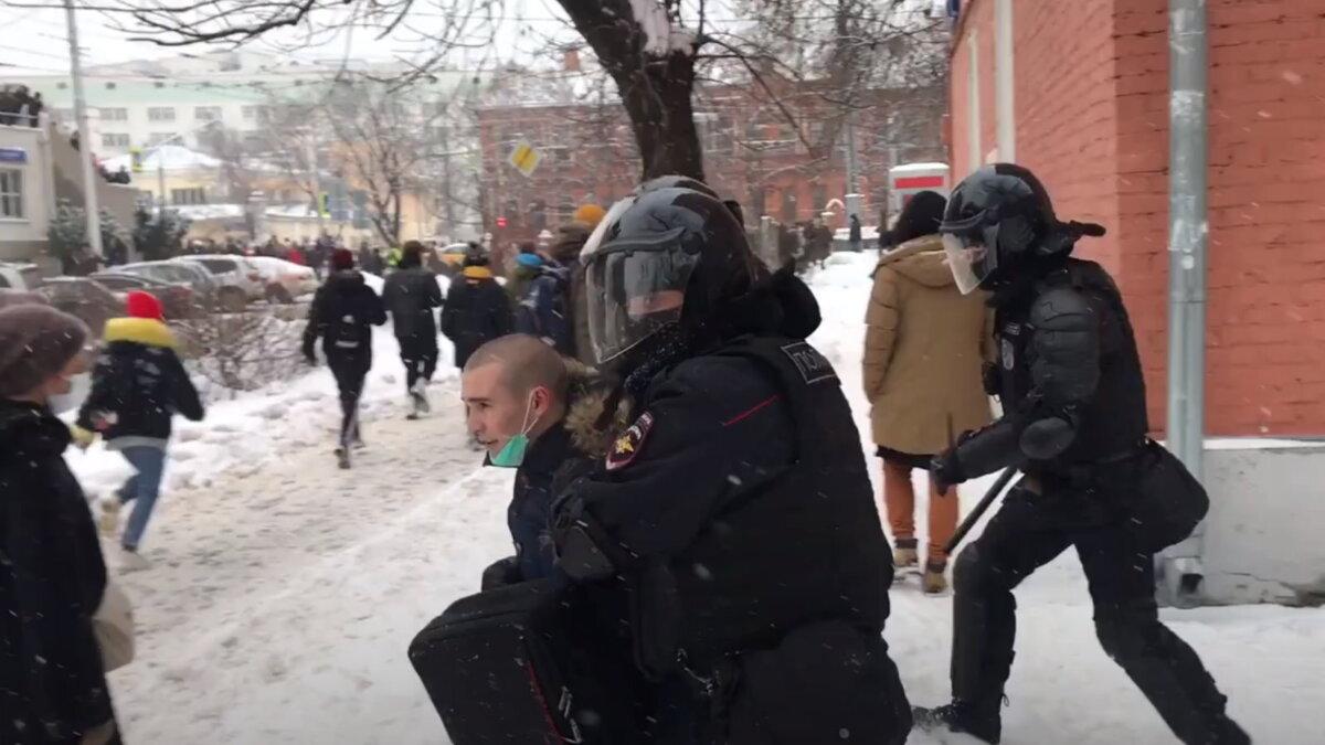 Москва протесты задержания Матросская тишина