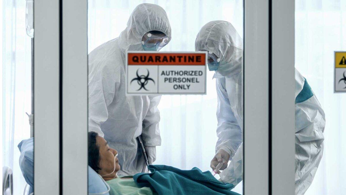 Больница женщина два врача шприц