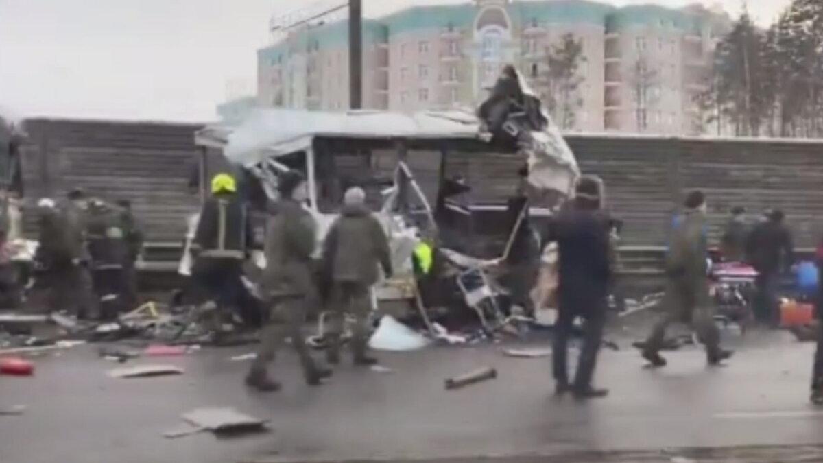 ДТП с военными автобусами на Новорижском шоссе один