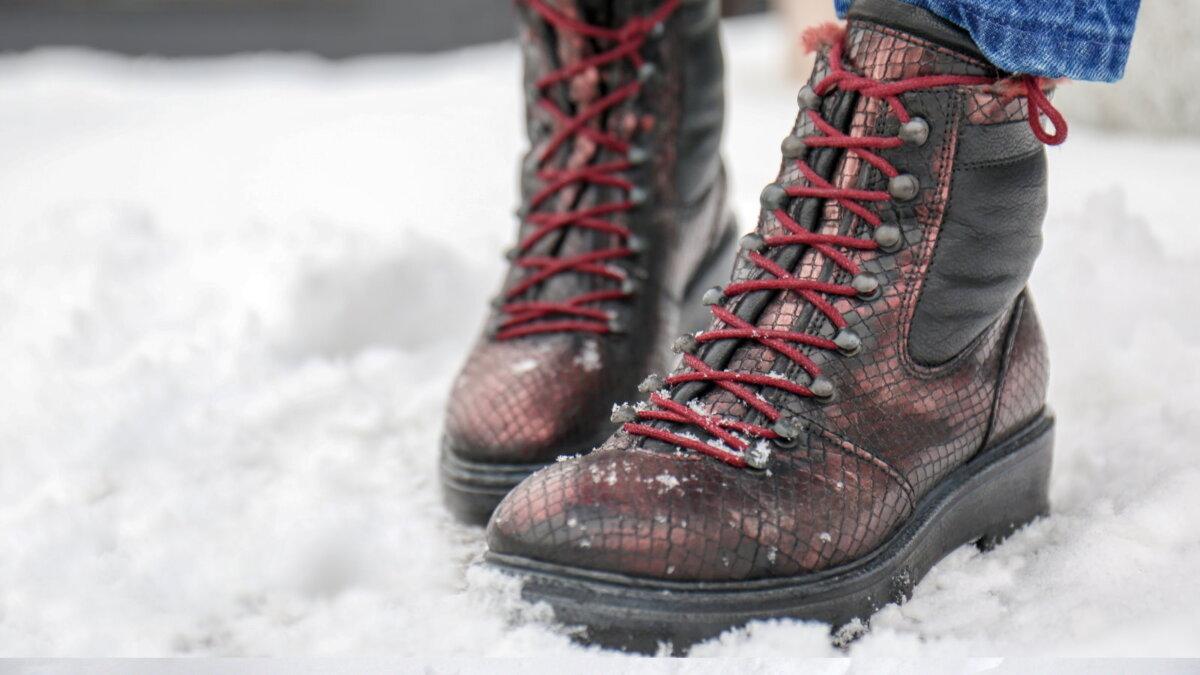 Ботинки обувь зима намокание