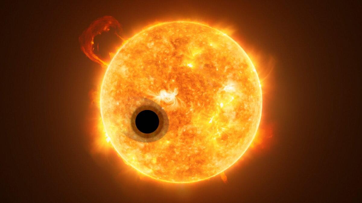 Экзопланета WASP-107b и звезда WASP-107