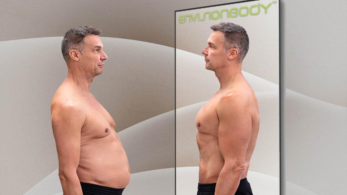 приложение EnvisionBody показывает тело после тренировок
