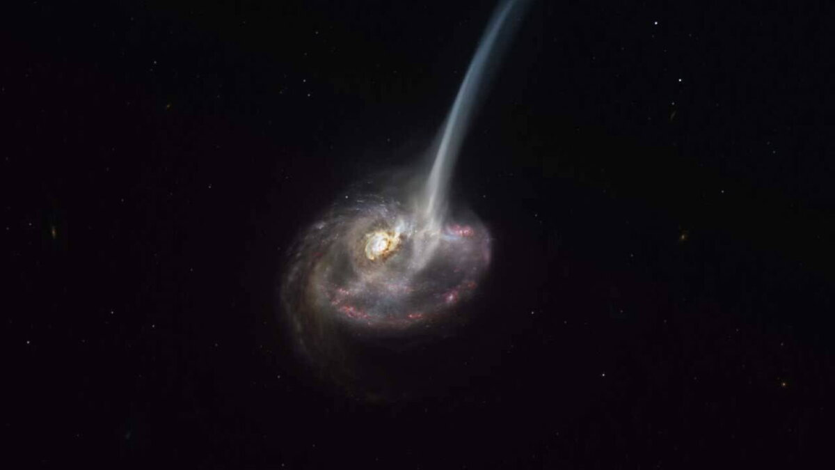 Галактика с приливным хвостом