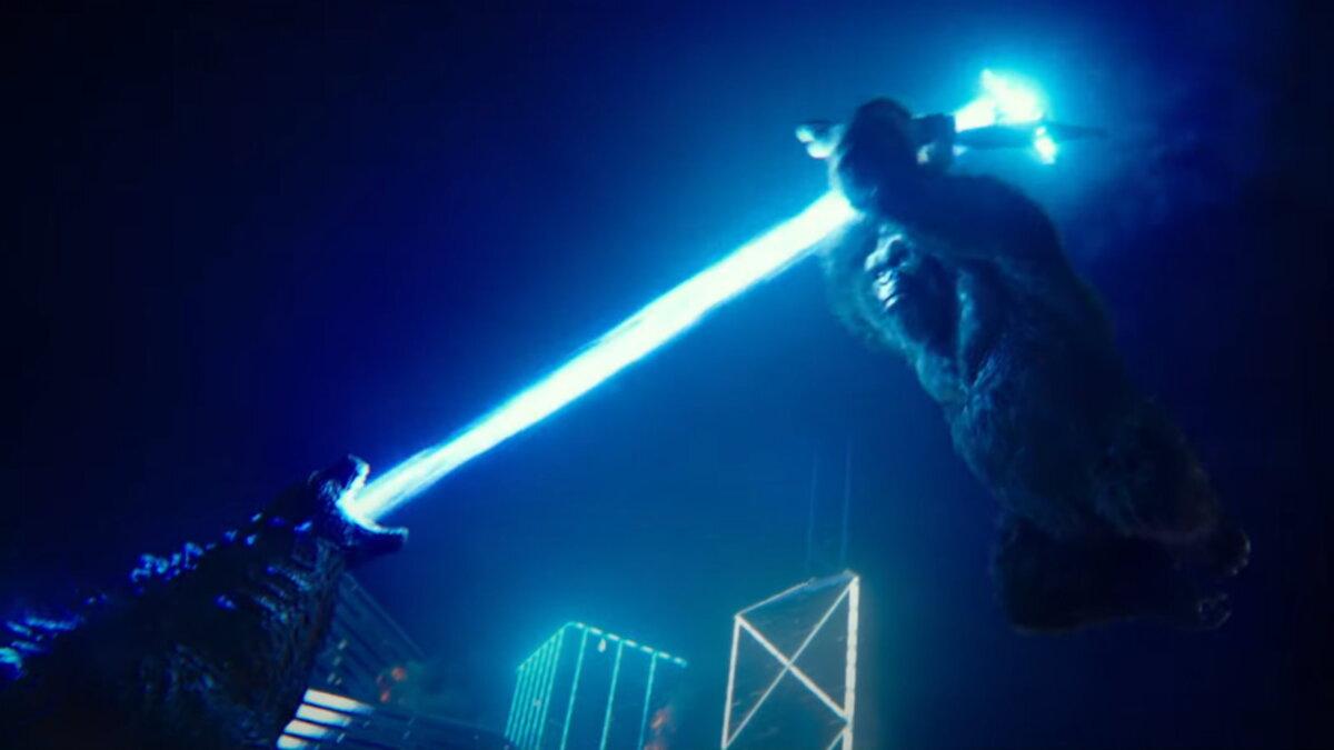 Кадр из фильма Годзилла против Конга три