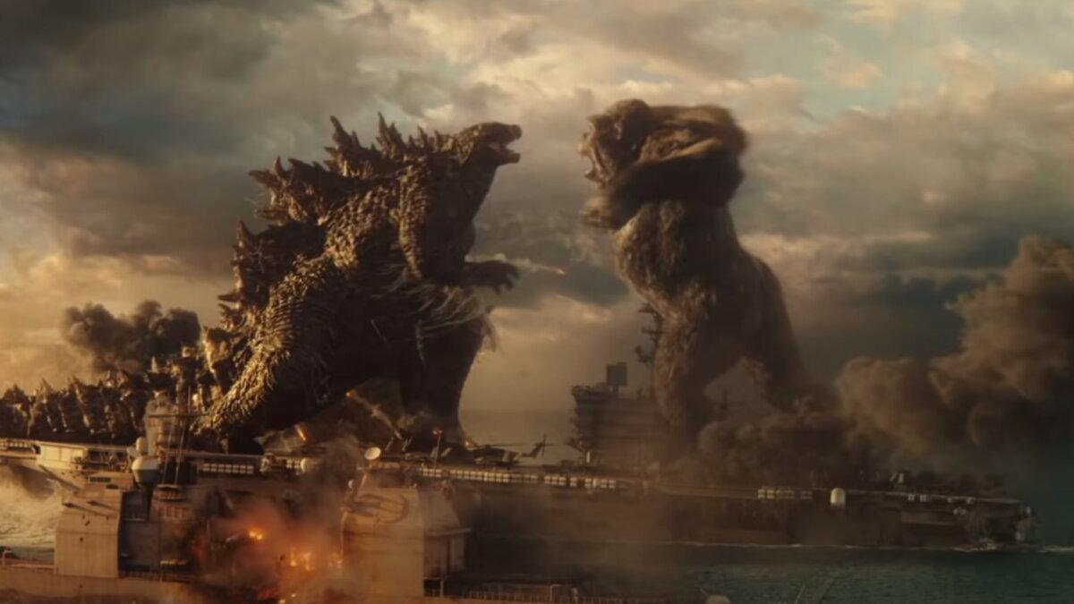 Кадр из фильма Годзилла против Конга два