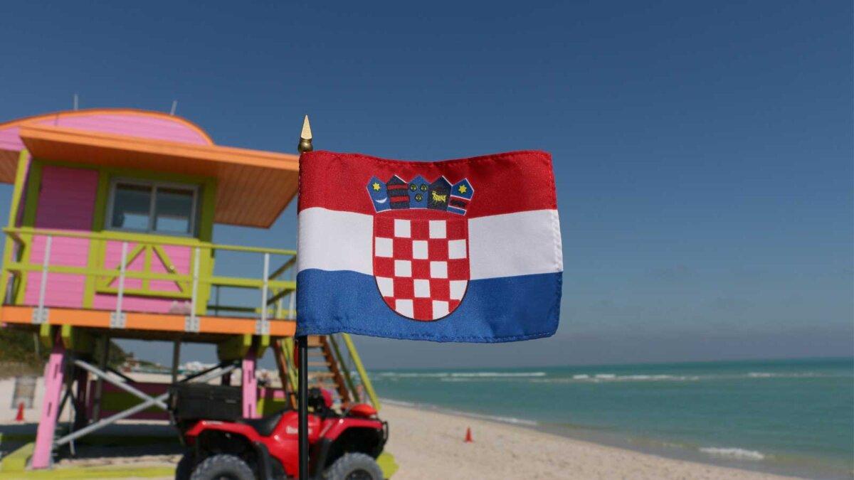 Хорватия море флаг Croatia the flags of the sea