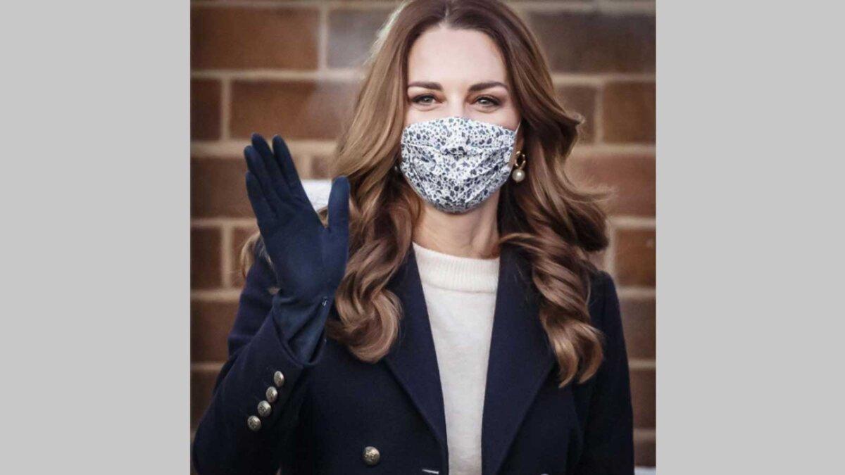 Кейт Миддлтон день рождения маска на фоне стены