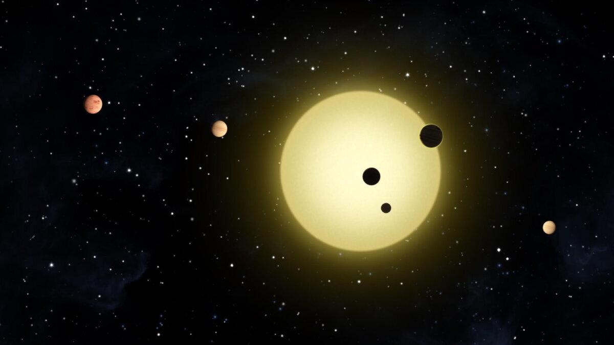 Шесть планет вращающихся вокруг звезды Кеплер-11