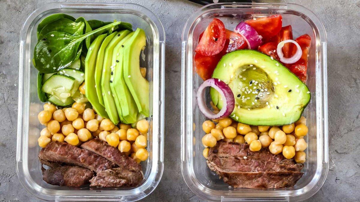 Контейнеры для приготовления здоровой пищи с нутом