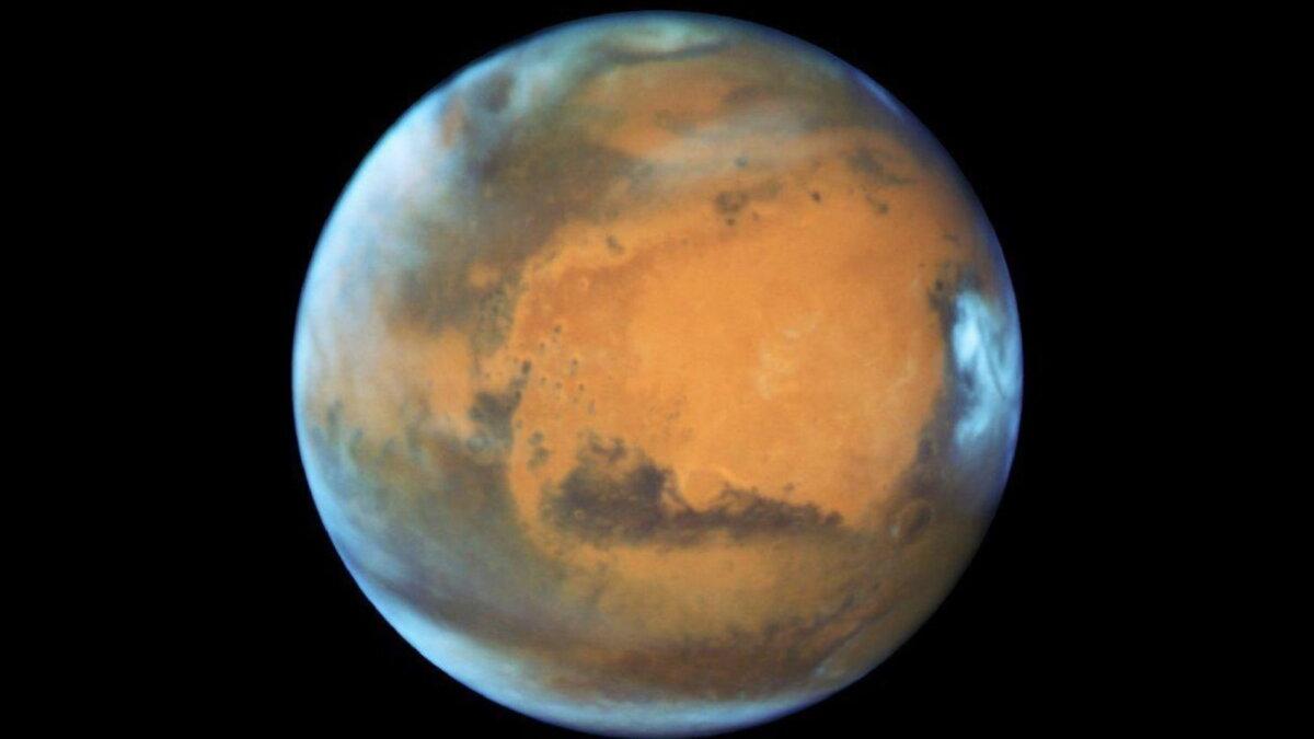 Планета Марс близко два