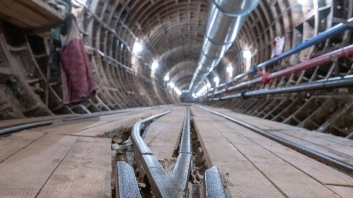 Метро метрополитен тоннель строительство один