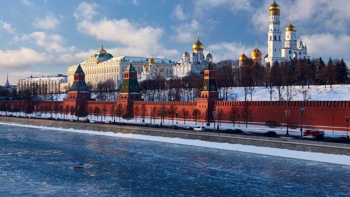 Москва река оттепель