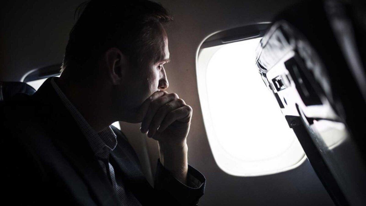 Навальный самолет окно