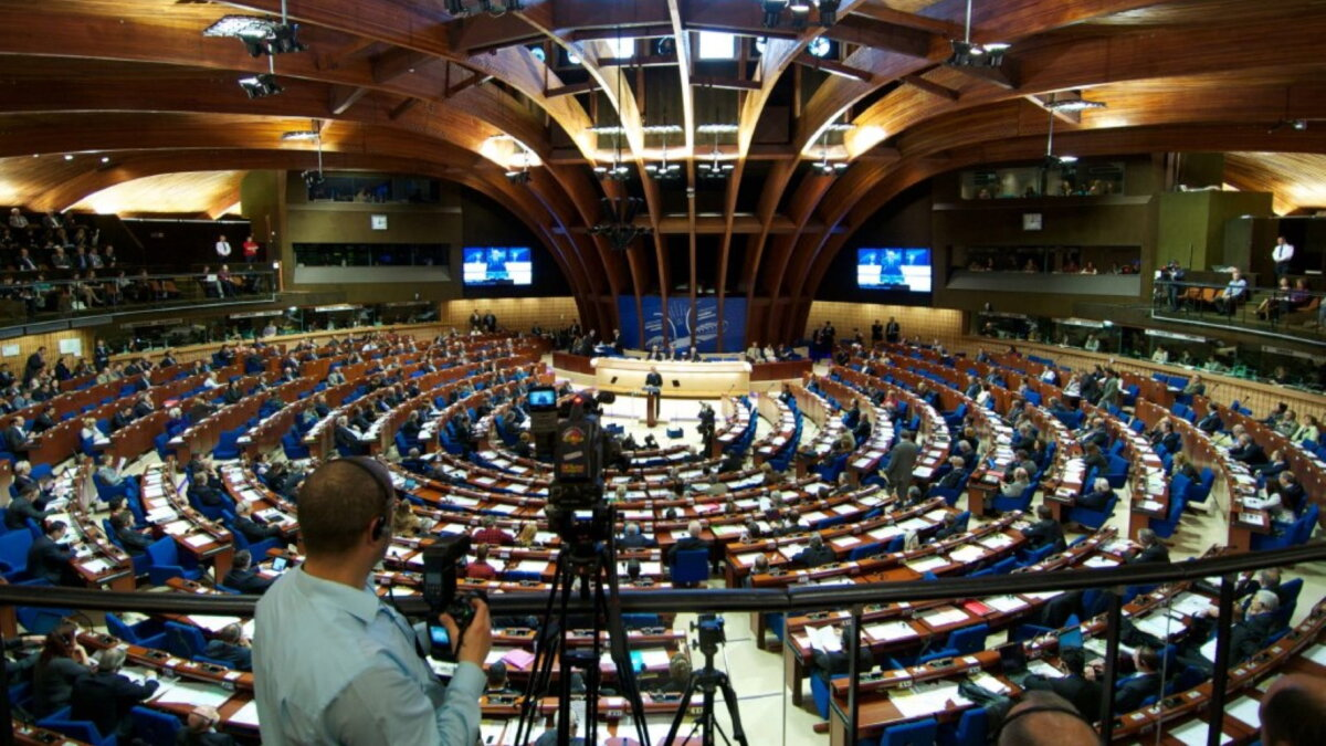 ПАСЕ Парламентская Ассамблея Совета Европы зал заседаний два