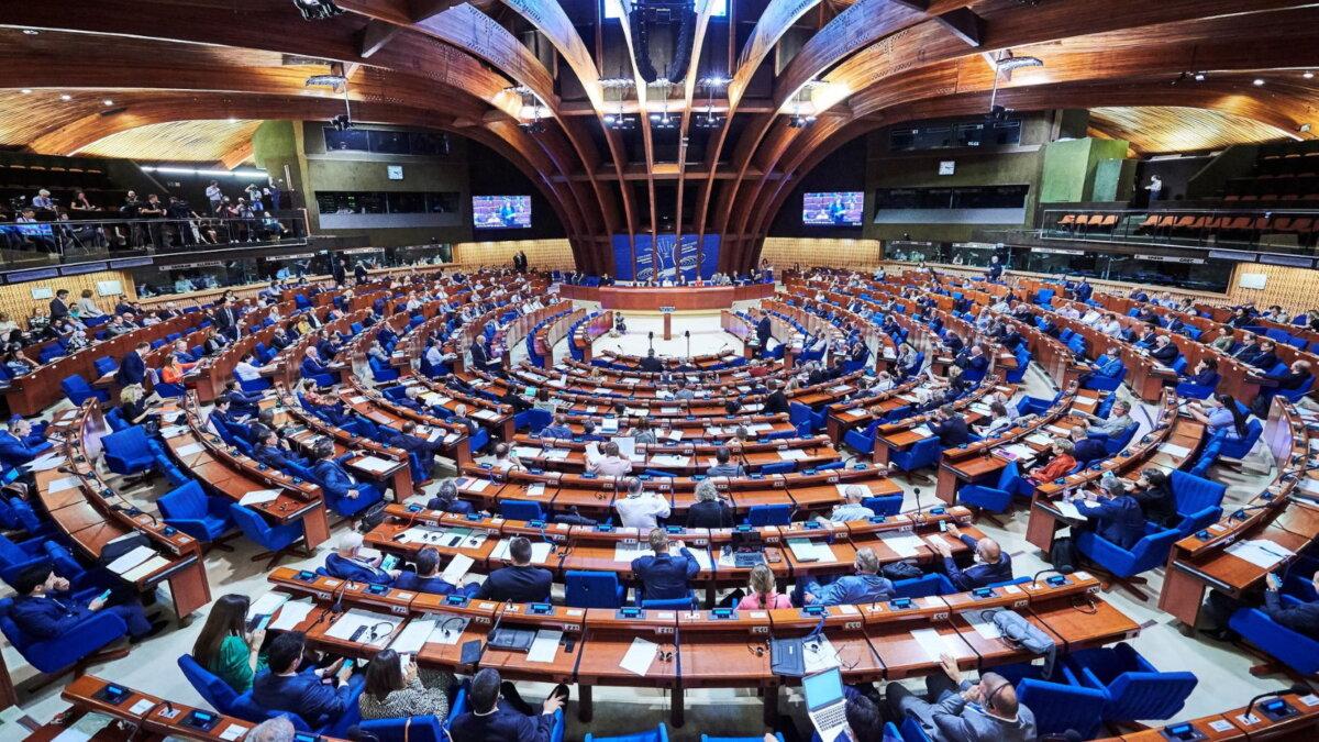 ПАСЕ Парламентская Ассамблея Совета Европы зал заседаний один