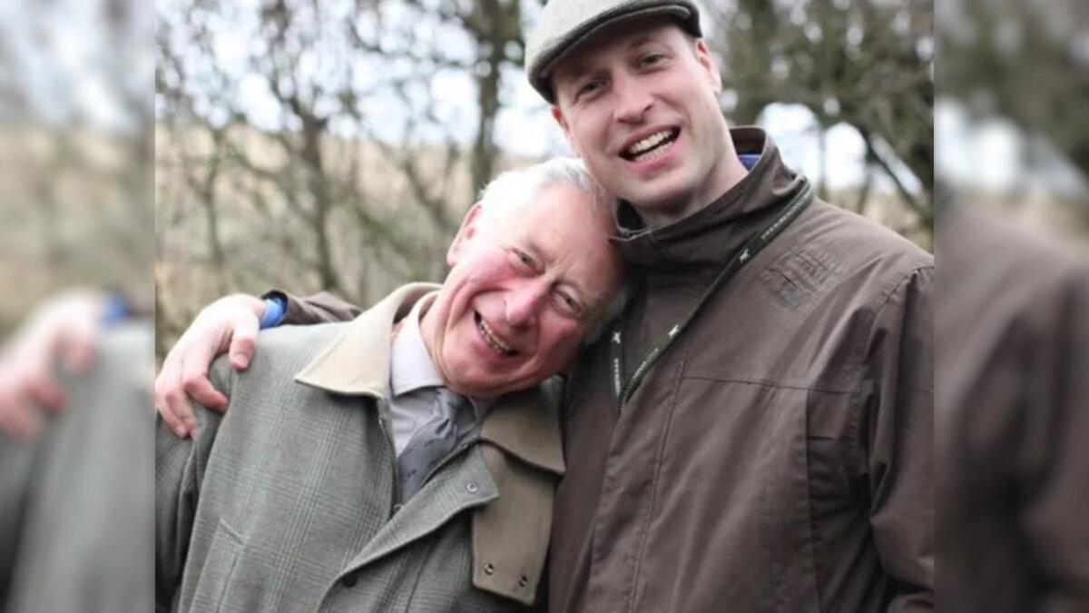 Принц Чарльз с сыном Уильямом