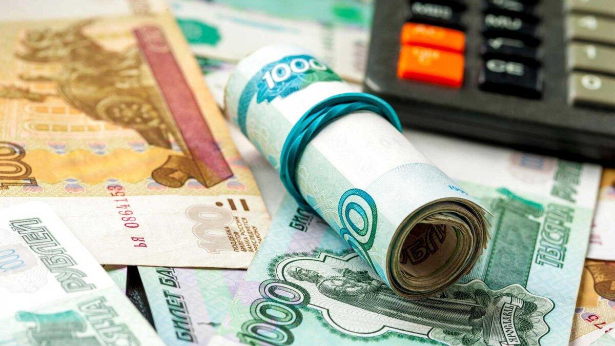 Рубли деньги калькулятор Russian rubles background
