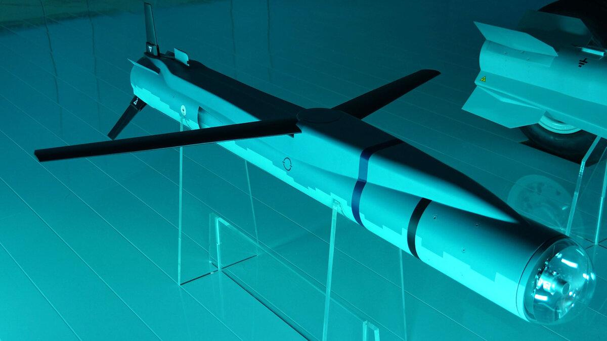 Ракета Spear 3 с раскрытыми крыльями