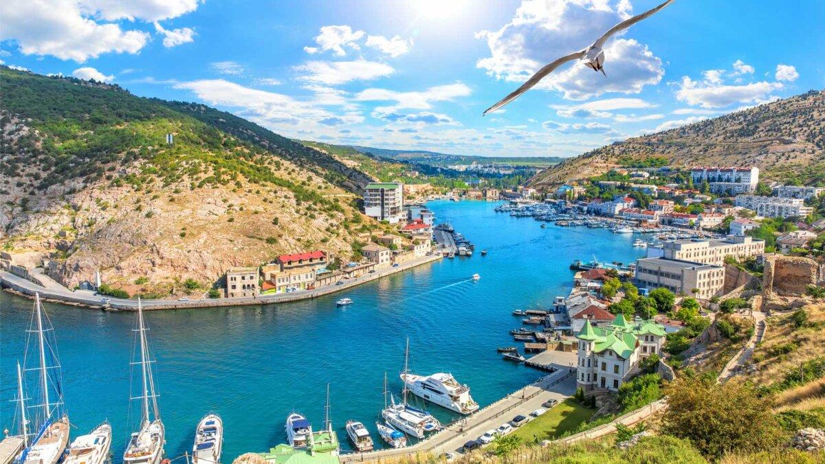 Севастополь Крым Beautuful Balaklava Bay view in Sevastopol