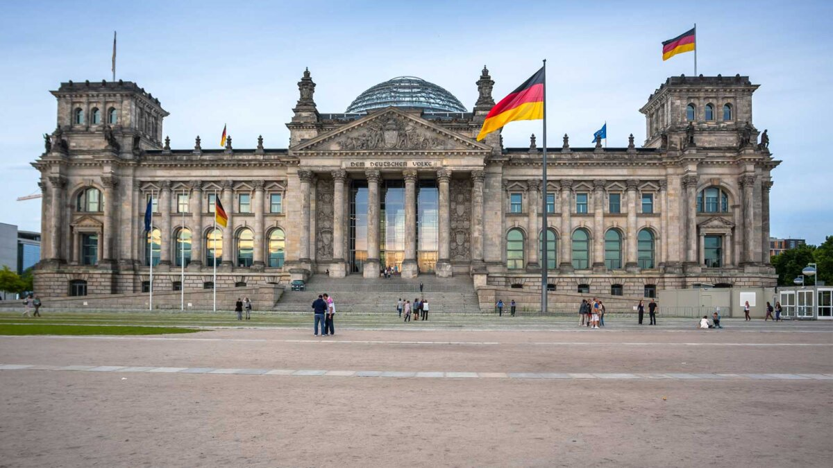 The Building Of The Bundestag Здание Бундестага