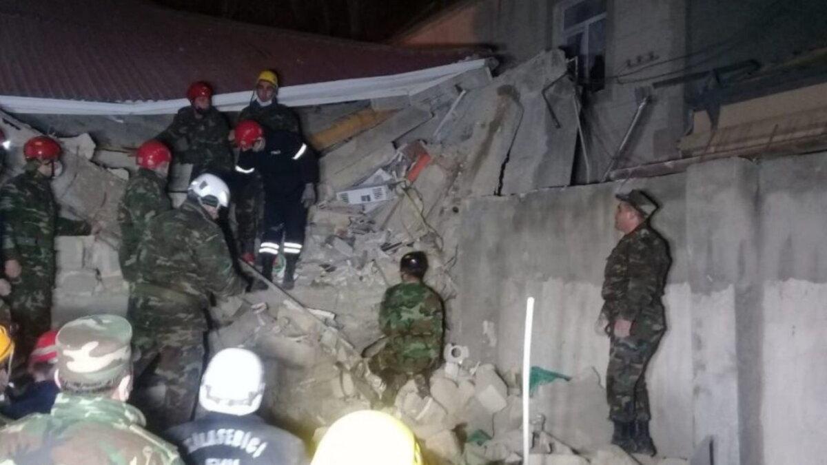 Взрыв в пригороде Баку