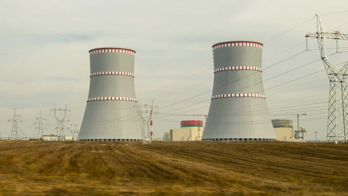construction site of the Belarusian nuclear power plant энергоблок БелАЭС