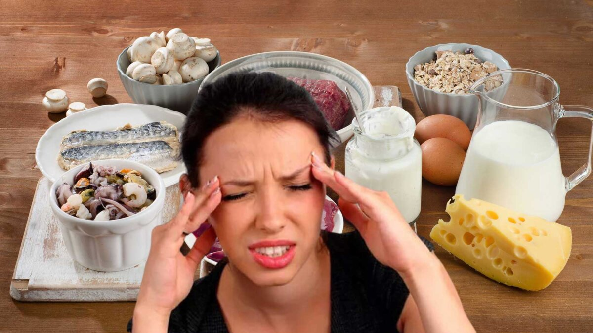 девушка болят глаза продукты с витаминов B12