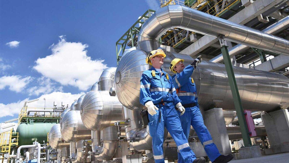 группа промышленных рабочих газ