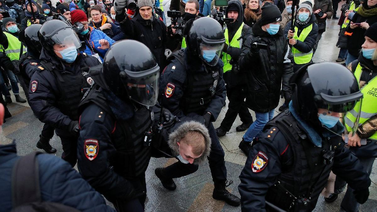 задержание на несанкционированном митинге