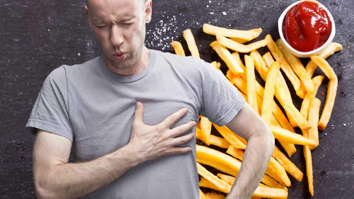 картофель фри сердечные заболевания мужчина