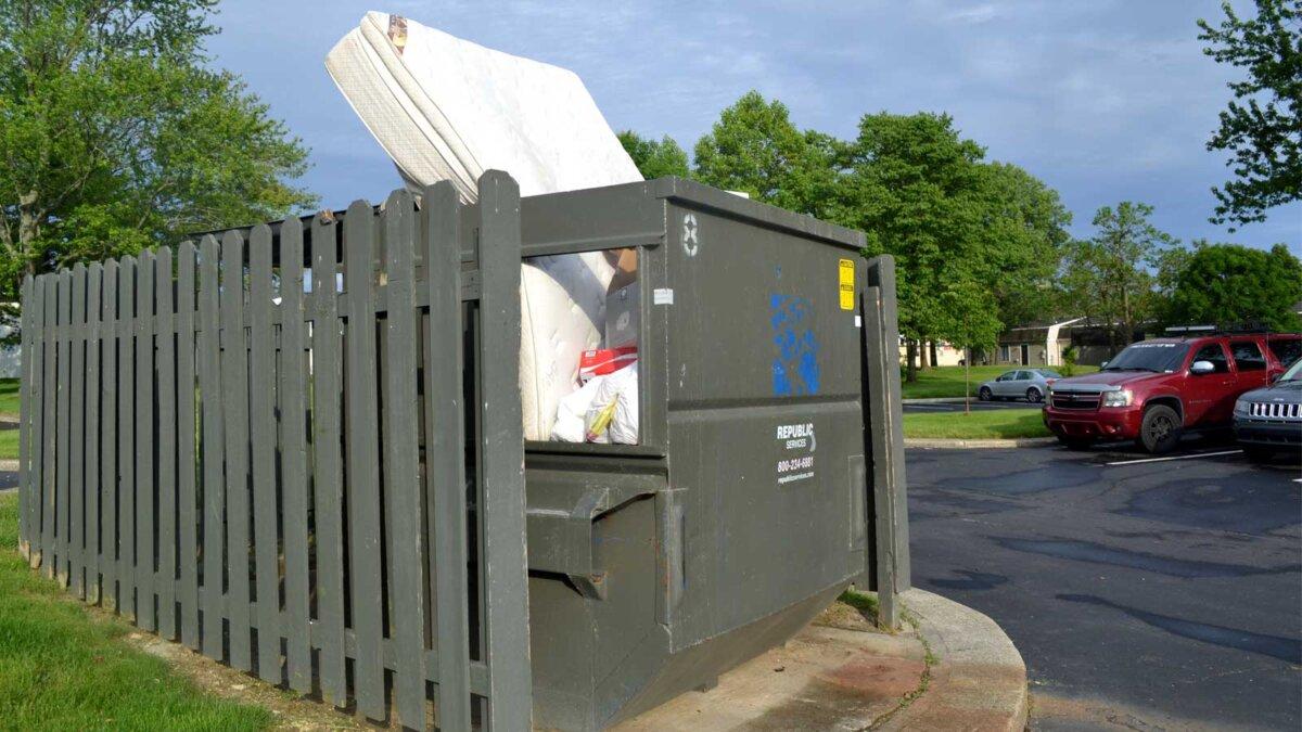 mattress trash can матрац мусорка
