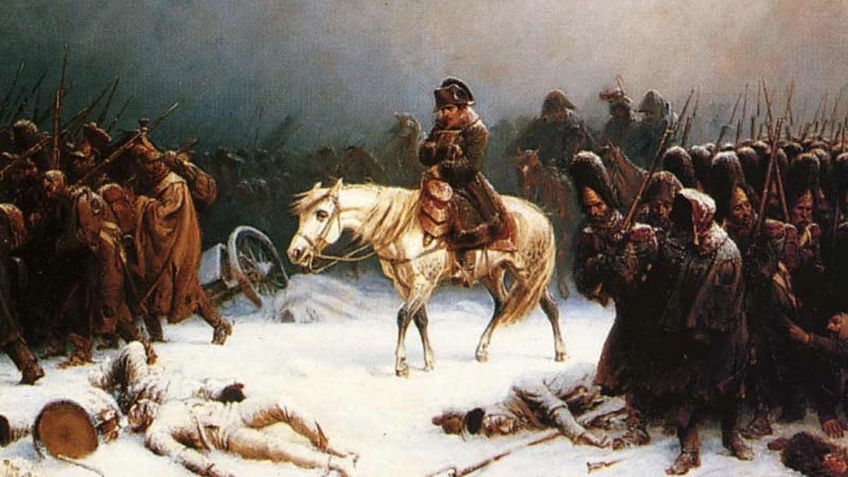 """Адольф Нортен, """"Бегство Наполеона из России зимой"""", 1851"""