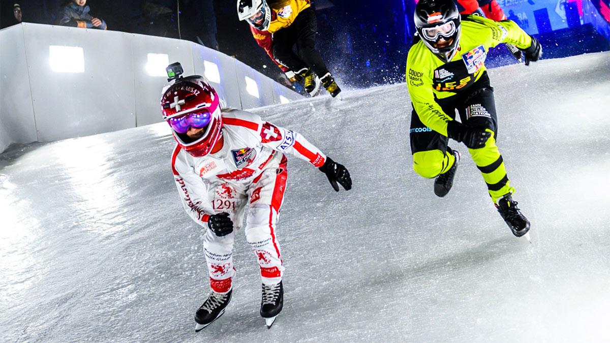 Чемпионат мира по скоростному спуску на коньках Red Bull Ice Cross