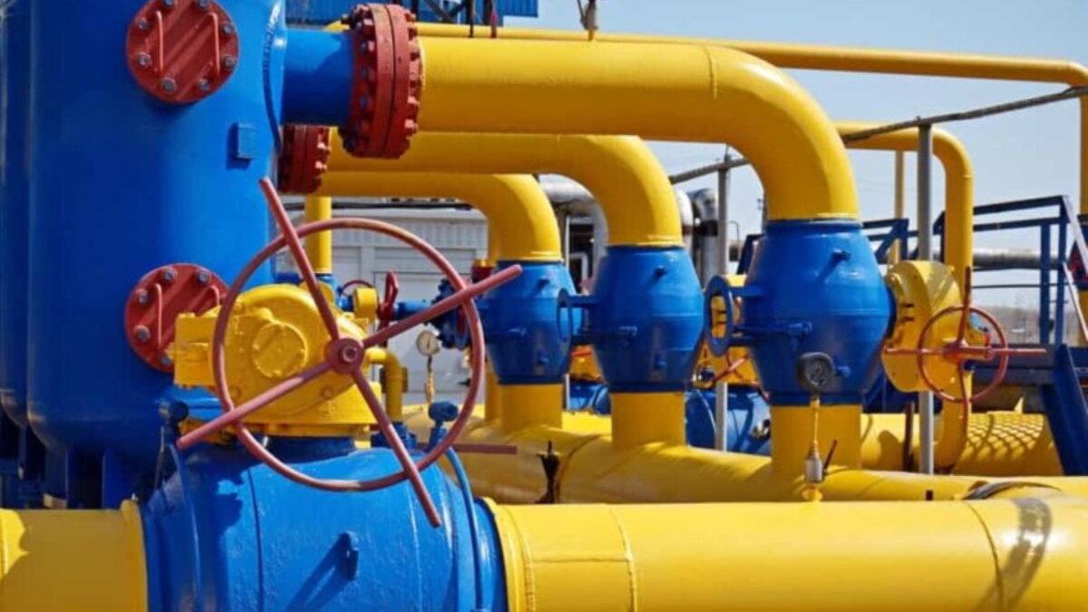 Газопровод вентиль транзит один