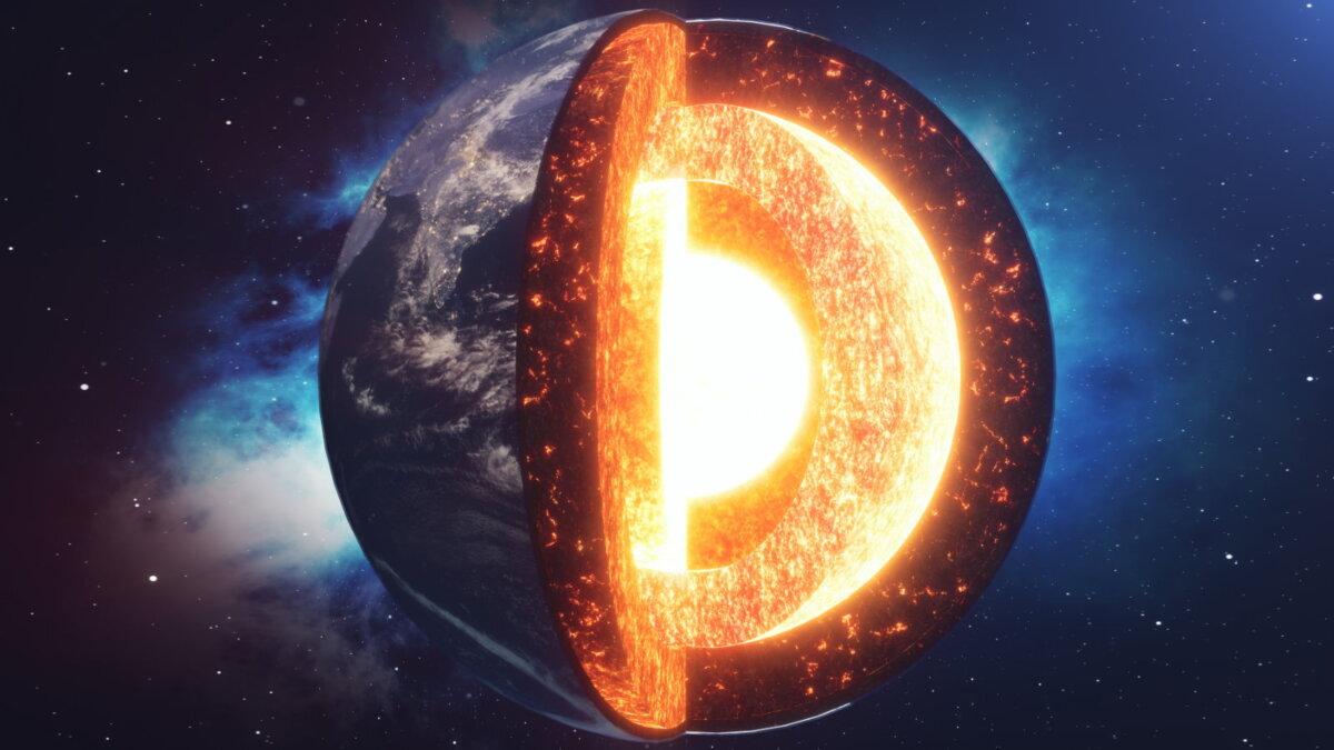 планета Земля ядро разрез
