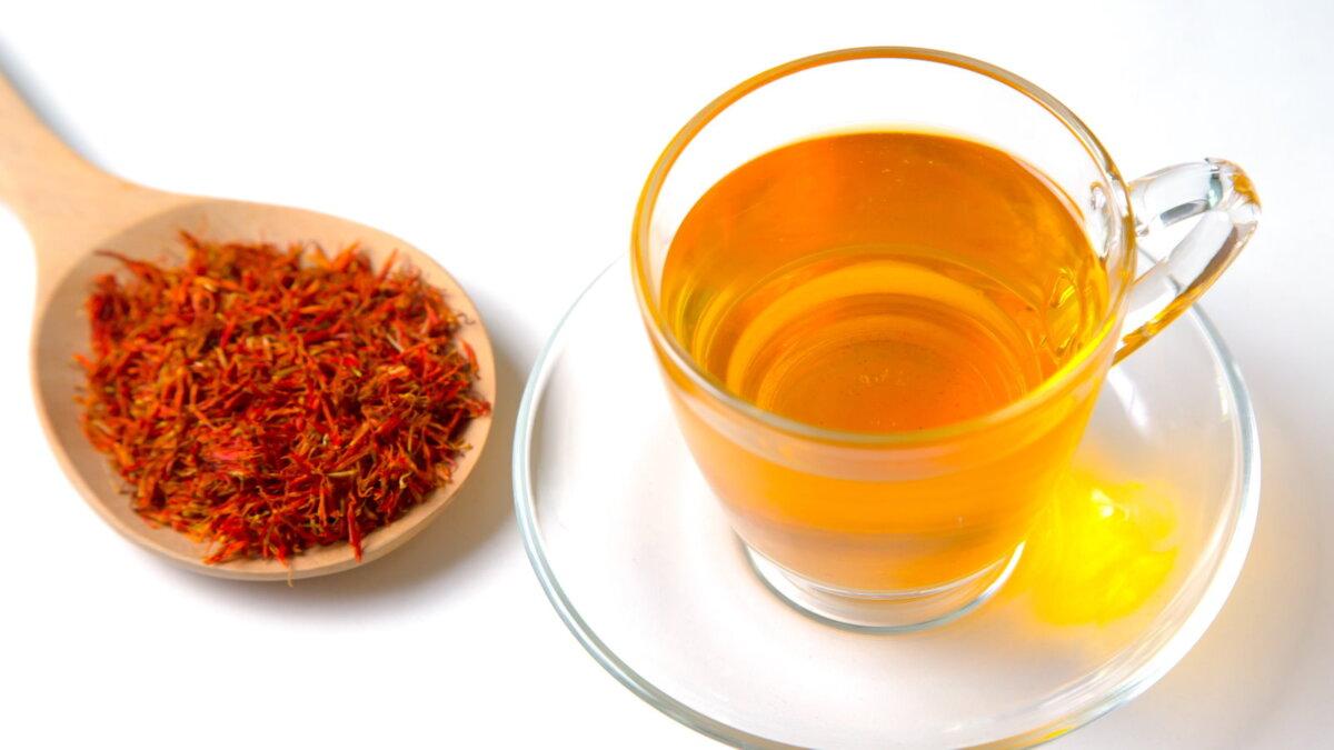 Чайный напиток из шафрана