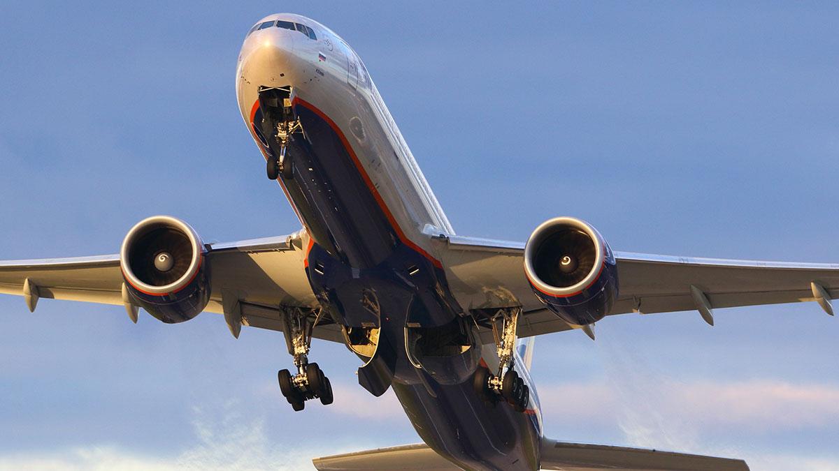 самолет аэрофлот Боинг взлет