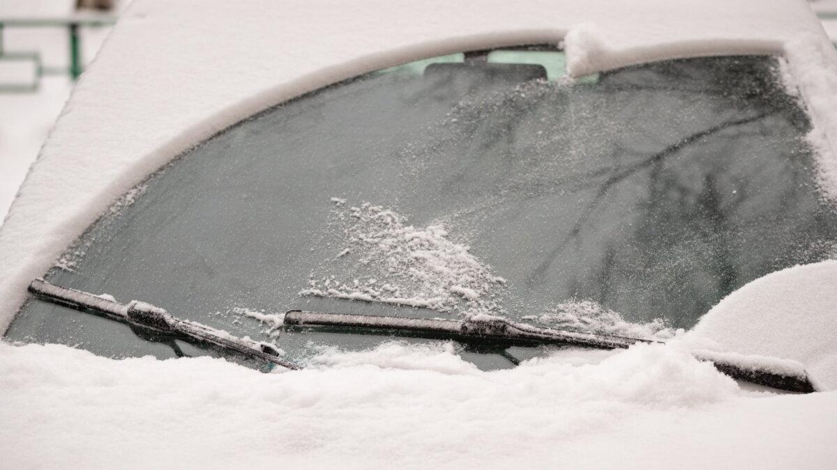 автомобиль снег мороз дворники стеклоочистители