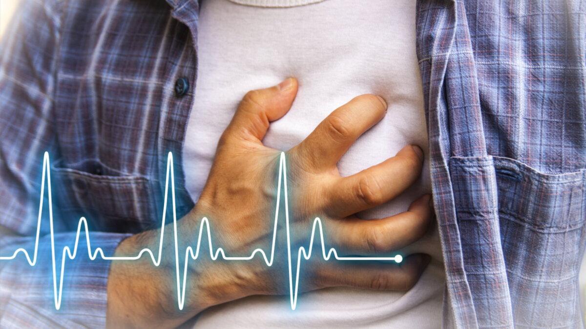 Сердечный приступ Инфаркт боль в груди мужчина два