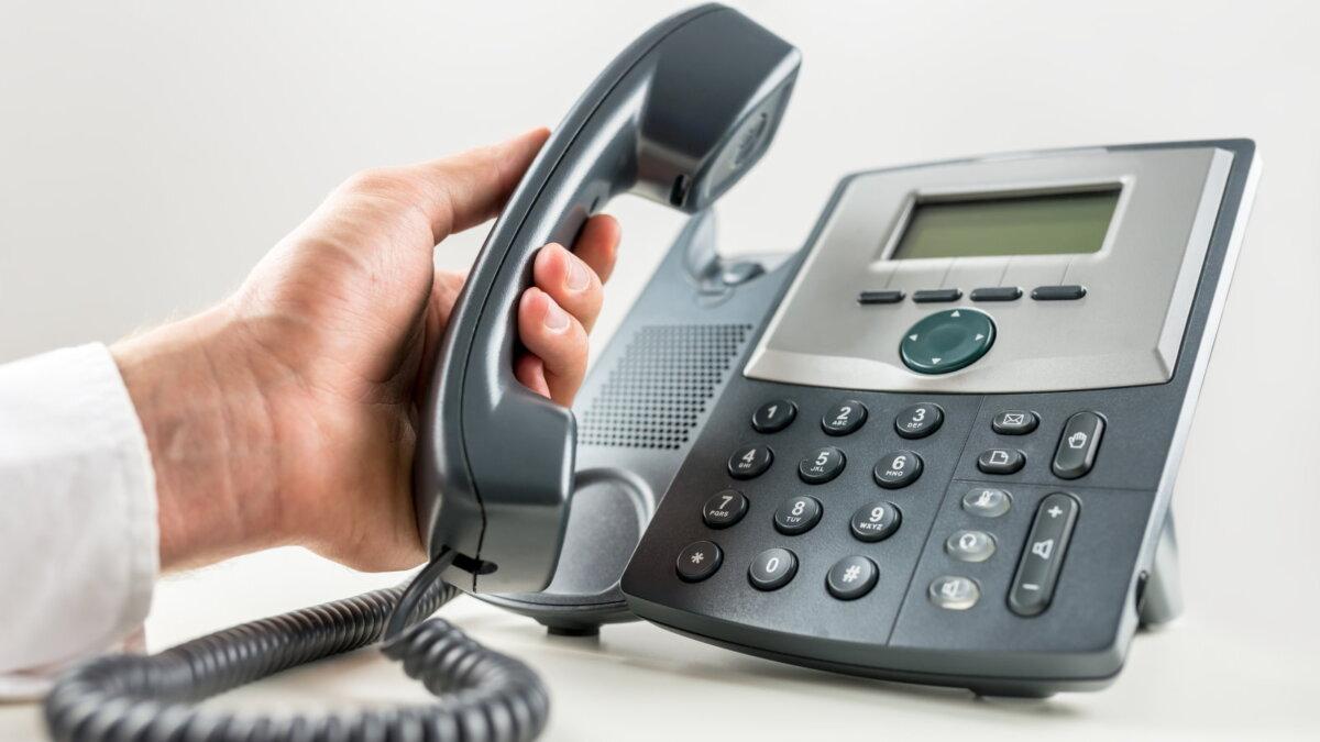 Стационарный телефон проводной